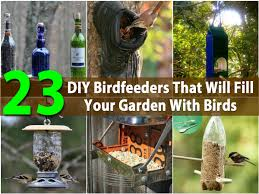 23 diy birdfeeders that will fill your garden with birds diy
