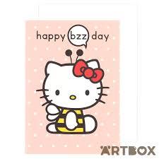 buy sanrio hello kitty orange bee happy bzz day birthday card at