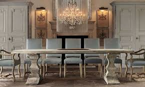 Florian Crystal Chandelier Rooms Restoration Hardware Bleached Dated Wood Tresses Table