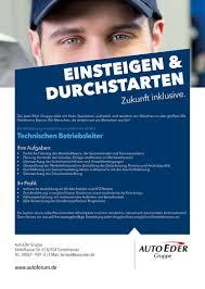Autohaus Huber Bad Reichenhall Job Technischen Betriebsleiter M W Tuntenhausen