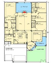 courtyard plans tuscan home plan with courtyard 36808jg architectural designs