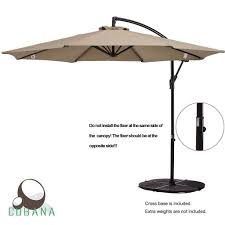 4 Foot Patio Umbrella Top 10 Best Offset Patio Umbrellas 2018 Buyer S Guide April 2018