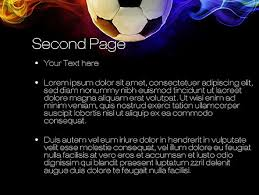fire football powerpoint template backgrounds 10735
