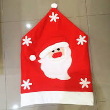 Santa Chair Covers Online Shop 2016 New Arrival Red Hat Santa Chair Covers Christmas