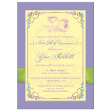 communion invitations holy communion photo template invitation yellow pink