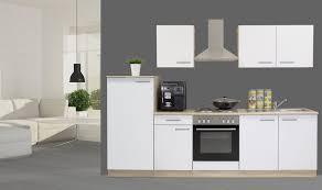 K Henzeile Preis Respekta Einbau Küche Küchenzeile Küchenblock 270 Cm Eiche Natura