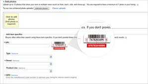 product identifiers ebay seller centre