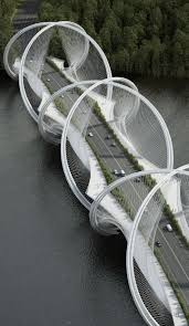 Architectural Design Firms Dna Shaped Suspension Bridge Inspired By Olympic Games U0027 Five Rings