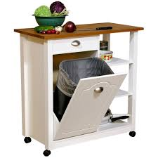 venture horizon butcher block top kitchen cart with trash bin venture horizon butcher block top kitchen cart with trash bin kitchen islands and carts at