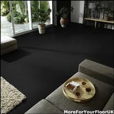 plain black vinyl flooring anti slip quality lino 2m ebay
