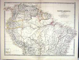 Old Map South America by Old Print Antique And Victorian Art Prints Paintings World Maps
