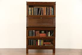 sold globe wernicke 1900 antique oak stacking lawyer bookcase