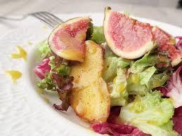 my bowl is fullfigs salad with honey dijon mustard dressing 無花果