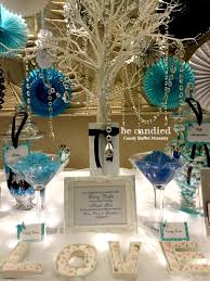 Wedding Candy Table A Blue White U0026 Black Themed Wedding Candy Table At Shangri La