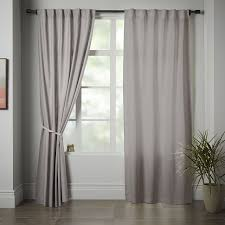 Light Silver Curtains Linen Cotton Curtain Platinum West Elm