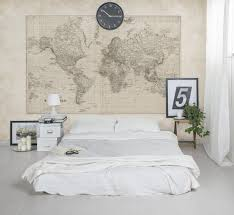 vintage world map mural walls republic