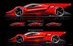 future ferrari car designer dreams up rad ferrari le mans prototype 95 octane