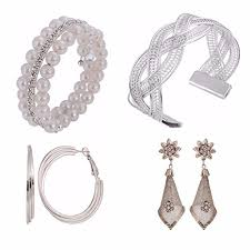 trendy earrings parijaat jewellery combo of stylish fashion bracelets and trendy