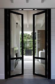 metal glass doors black steel framed glass paneled doors design ideas