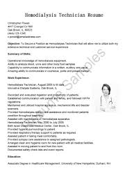 technical resume sample cover letter patient care technician sample resume dialysis cover letter job resume sample patient care technician dialysis no experience xpatient care technician sample resume