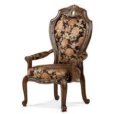 Michael Amini Furniture Aico Michael Amini Oppulente 9pc Rectangular Dining Table Set W