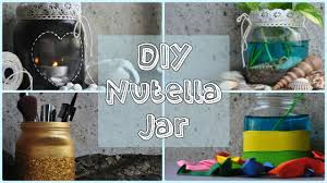 diy home decor nutella jar youtube