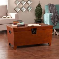 southern enterprises mission oak built in storage coffee table