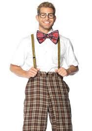 Bow Tie Halloween Costumes Nerd Geek Glasses Bow Tie Suspenders Kit Nerdy