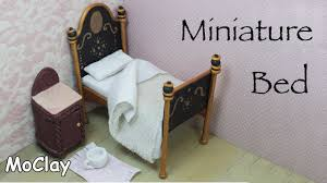 How To Make Dollhouse Furniture Out Of Household Items Dollhouse Furniture Tutorial Diy Miniature Vintage Bed Youtube