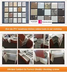 Long Lifetime Wooden Color Pvc Membrane Kitchen Cabinet Low Price - Kitchen cabinets lowest price