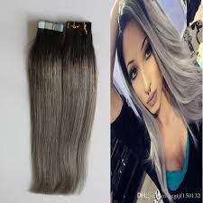 racoon hair extensions 7a grey hair 100g ombre human hair ombre in human hair