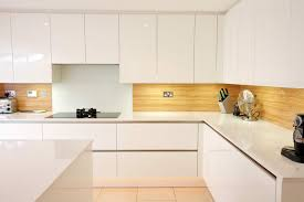 Laminate Kitchen Designs Splashbacks From Lwk Kitchens A Gloss White Kitchen Design With