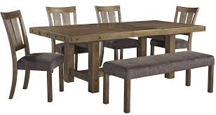 Wolf Furniture Outlet Altoona Pa 6 piece table u0026 chair set with bench by signature design by ashley