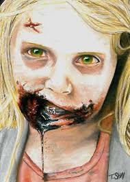 the walking dead little walker sketch by dr horrible