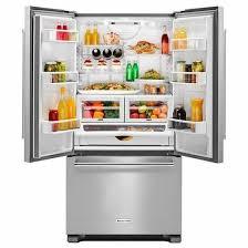 kitchenaid cabinet depth refrigerator kitchenaid krfc302ess 22 cu ft 36 inch width counter depth french