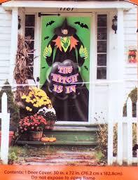 halloween witch door decorations