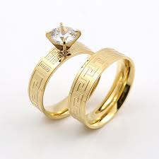 wedding rings for couples aliexpress buy gold great wall design wedding rings