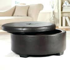 round upholstered coffee table upholstered ottoman with shelf lunex info