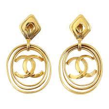 fabulous earrings chanel vintage hoop earrings worn 3 ways bold and fabulous