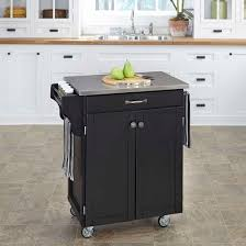 kitchen islands with stainless steel tops charlton home thorpe kitchen cart with stainless steel top