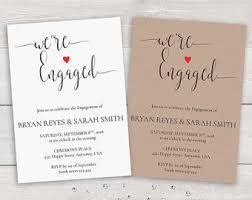 printable engagement invitation template we u0027re engaged
