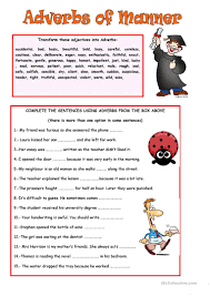 Identifying Adverbs And Adjectives Worksheets 19 Free Esl Adverbs Of Manner Worksheets
