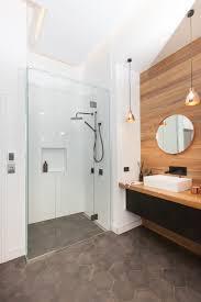 inline shower glass screen with door shower in bathroom by metro glass