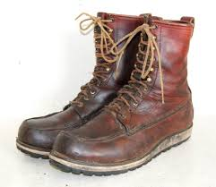 vtg irish setter red wings leather lace up boots brown men u0027s 13 b