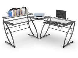 Corner Gaming Computer Desk Corner Gaming Computer Desk With Z Line Belaire Glass L Shaped