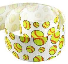 softball ribbon by the yard hipgirl 5 yard 1 5 sports grosgrain fabric ribbon for