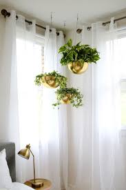crisp guest room ideas with hanging plants decor accessories and