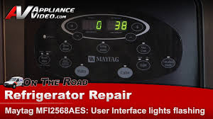 whirlpool ice maker red light flashing refrigerator not user interface display lights flashing