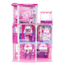 amazon com barbie pink 3 story dream townhouse toys u0026 games