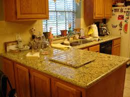 traditional kitchen with brown granite lowes countertop style